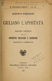 Cover of: Giuliano l'Apostata