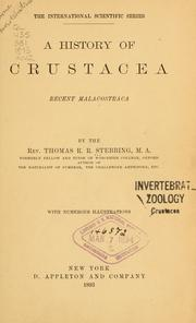 Cover of: A history of Crustacea