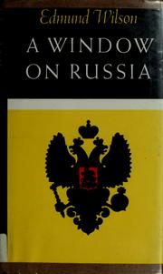 Cover of: A window on Russia, for the use of foreign readers