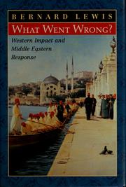 Cover of: What went wrong?