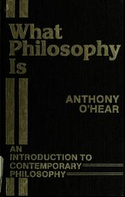 Cover of: What philosophy is