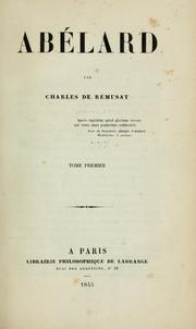 Cover of: Abélard