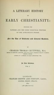 Cover of: A literary history of early Christianity