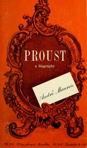 Cover of: Proust; a biography