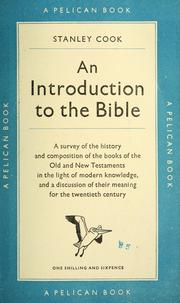 Cover of: An introduction to the Bible