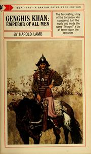 Genghis Khan by Harold Lamb