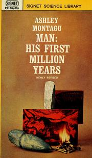 Cover of: Man, his first million years