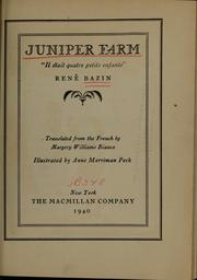 Cover of: Juniper farm