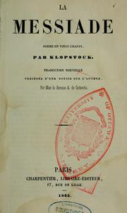 Cover of: La messiade