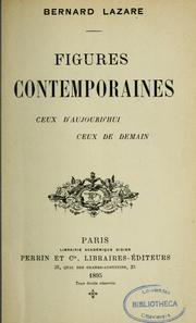 Cover of: Figures contemporaines