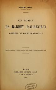 Cover of: Un roman de Barbey d'Aurevilly