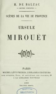 Cover of: Ursule Mirouët