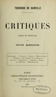 Cover of: Critiques