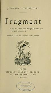 Cover of: Fragment