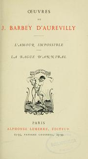 Cover of: L'Amour impossible. La bague d'Annibal