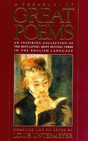 Cover of: A treasury of great poems