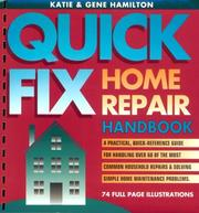 Cover of: Quick-fix home repair handbook
