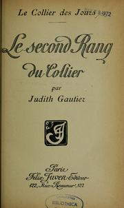 Le second rang du collier by Gautier, Judith
