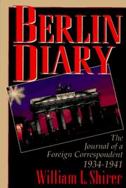 Cover of: Berlin Diary | William L. Shirer