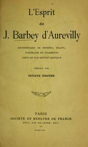 Cover of: L'esprit de J. Barbey d'Aurevilly