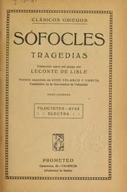 Cover of: Tragedias