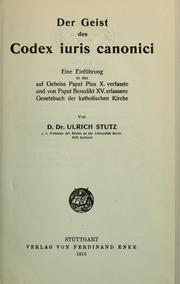 Cover of: Der Geist des Codex iuris canonici