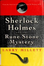 Cover of: Sherlock Holmes and the rune stone mystery