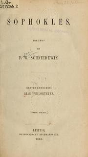 Cover of: Sophokles