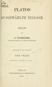 Cover of: Ausgewählte Dialoge