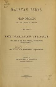 Cover of: Malayan ferns