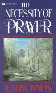 Cover of: Necessity of Prayer