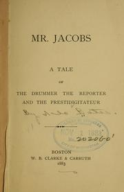 Cover of: Mr. Jacobs | Arlo Bates