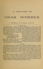 Cover of: A treatise on gear wheels | Grant, George B.