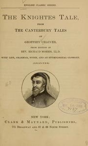 Cover of: The knightes tale, from the Canterbury tales of Geoffrey Chaucer