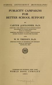 Cover of: Publicity campaigns for better school support