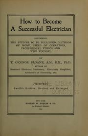 Cover of: How to become a succesful electrician