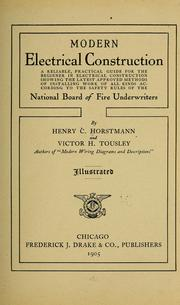 Cover of: Modern electrical construction | Henry C[harles] Horstmann