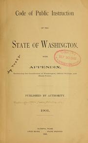 Cover of: Code of Public Instruction of the State of Washington