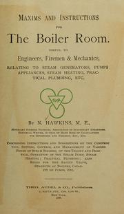 Cover of: Maxims and instructions for the boiler room