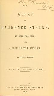 Cover of: The works of Laurence Sterne | Laurence Sterne