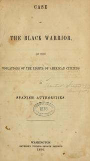 Cover of: Case of the Black Warrior | United States. Department of State.