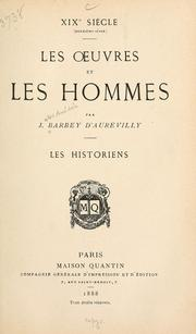 Cover of: Les historiens