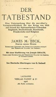 Cover of: Der tatbestand