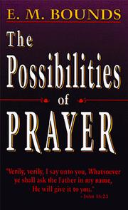 Cover of: Possibilities of Prayer