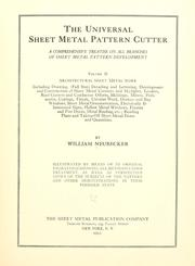 Cover of: The universal sheet metal pattern cutter | William Neubecker
