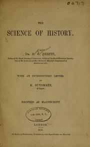 Cover of: The science of history