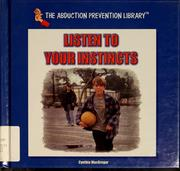 Cover of: Listen to your instincts