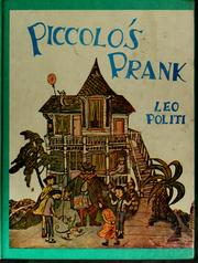 Cover of: Piccolo