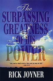 Cover of: The surpassing greatness of His power