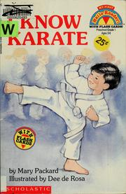 Cover of: I Know Karate